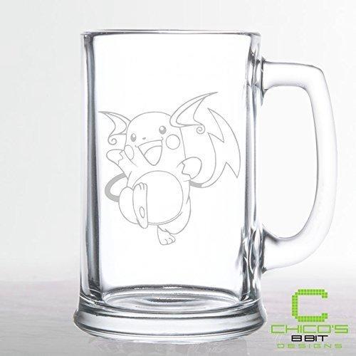 Pokemon - Raichu - Etched Beer Mug