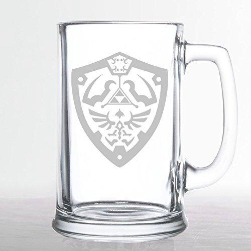 The Legend of Zelda - Hylian Shield - Etched Beer Mug