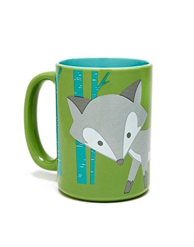 Kitschn Glam Foxy Mug 16 Oz Ceramic Cup - Microwaveable Dishwasher Safe