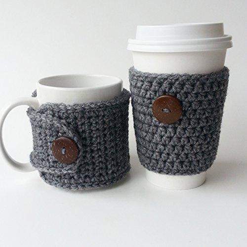 Coffee Mug Travel Cup Cozy Set Rustic Grey