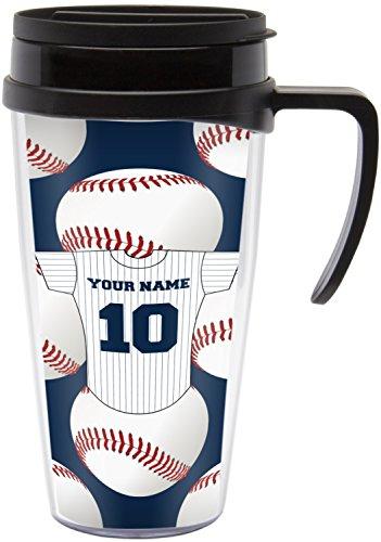 Baseball Jersey Travel Mug with Handle Personalized