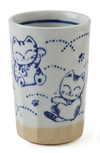 Miya Japanese 9oz Fortune Cat Drinking Tumbler  TeaCup