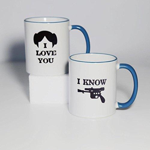 I Love You I Know - Two Sides Printed Mug - Funny Mug - Couple Set Mugs - 11 Oz Coffee Mug Ceramic Mug Blue - Perfect Gift
