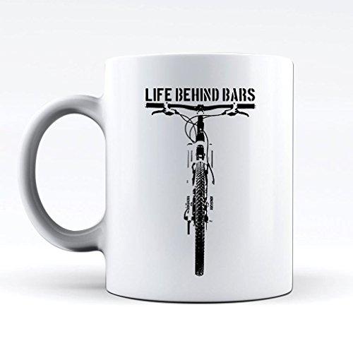 Novelty Printed Mugs Life Behind Bars Mountain Bike Coffee Mug Funny Cup