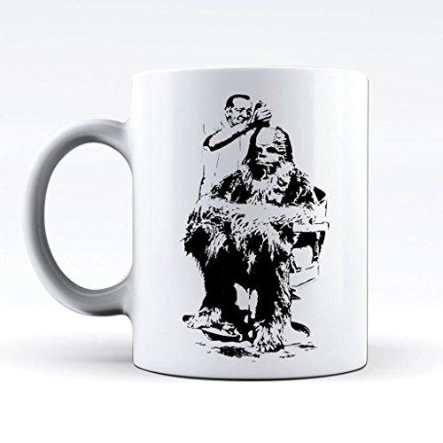 Printed Mug and Coffee Cups Banksy Chewbacca Funny Mugs Novelty Gift Idea