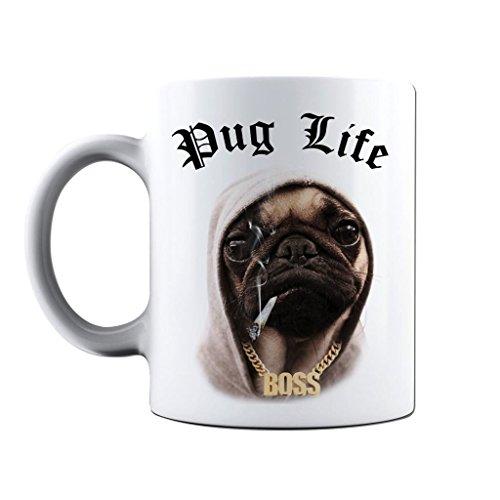 Printed Mug and Coffee Cups Pug Life Funny Mugs Novelty Gift Idea