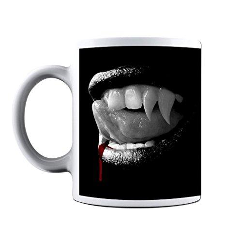 Printed Mug and Coffee Cups Vampire Teeth Gothic Mugs Novelty Gift Idea