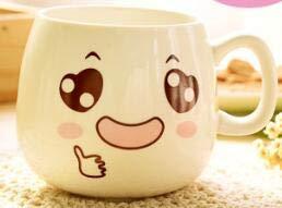 Fiesta 1PC Creative Cute Expression Ceramic Mugs Water Container Cups And Mugs Porcelain Tea Cup Coffee Mug Wholesale LF 173 Orange 300ml