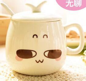 Fiesta 1PC Creative Cute Expression Ceramic Mugs Water Container Cups And Mugs Porcelain Tea Cup Coffee Mug Wholesale LF 173 Sky Blue 300ml