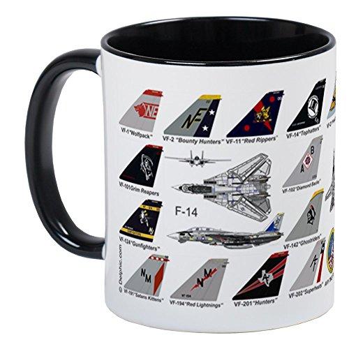 CafePress - F-14 Tomcat Navy Wings All Squadron Mug Mugs - Unique Coffee Mug Coffee Cup