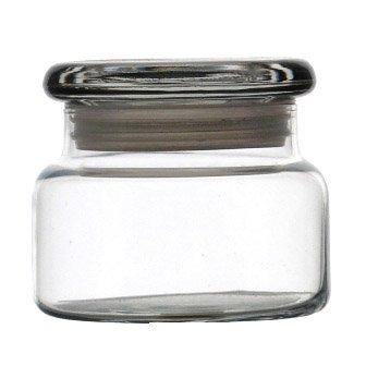 Premium 8 Oz Apothecary Jar W Flat Lid Per Doz