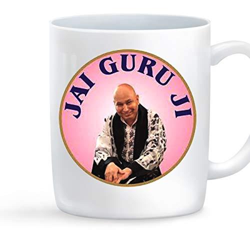 Manglam Mart Jai Guru Ji Blessing- Unique Ceramic Novelty Coffee Mug Online Mug Gift coffee Mug Ceramic 325 Ml