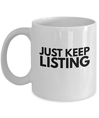Online Seller Mug Just Keep Listing
