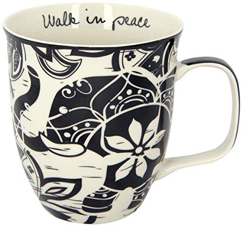 Karma Gifts Boho Black and White Mug Elephant