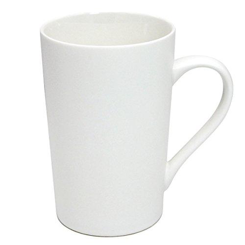 Momugs 12 OZ Plain White Ceramic Milk Tea Coffee Mug with Handle as A Gift for Dad Mom Friends