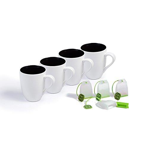 Ovenex 16 Oz Ceramic Mugs - 4 Pack Starlight White