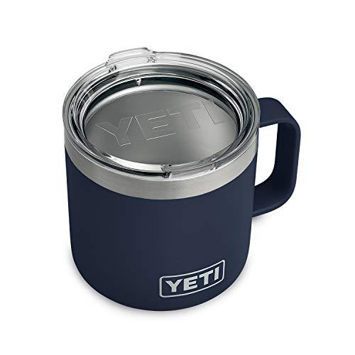 YETI Rambler 14 oz Stainless Steel Vacuum Insulated Mug with Lid Navy