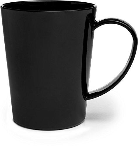 Carlisle 4306803 Break-Resistant Tritan Coffee Mug BPA Free Plastic 12 oz Black Pack of 12