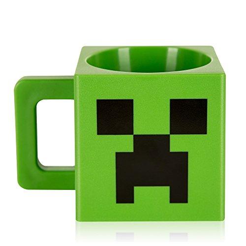 JINX Minecraft Creeper Face Plastic Mug 98 ounces