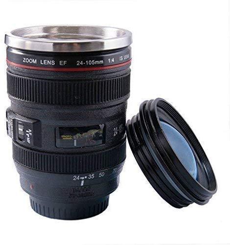 Indian Fiesta Antique Camera Lens Shaped Coffee Mug with Lid 400 Ml Black