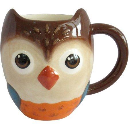 Figural Owl Mug Set of 4