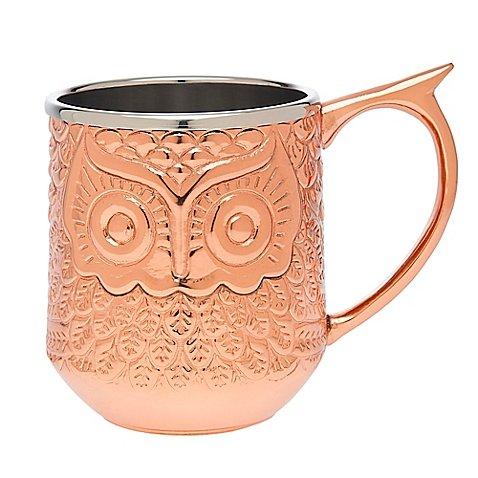 Godinger Hammered Copper Moscow Mule Owl Mug