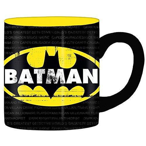 Silver Buffalo BN112934 DC Comics Batman Grimey Logo Jumbo Ceramic Mug 20-Ounces