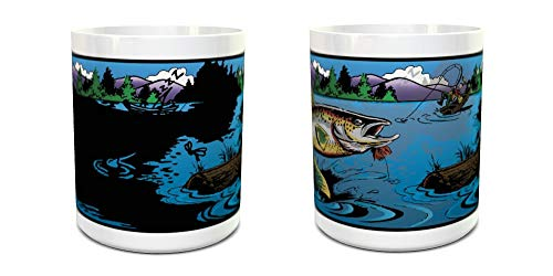 Gone Fishing Magic Mug - Color Changing Mug - Coffee Mug - Fisherman Gift - 11oz size