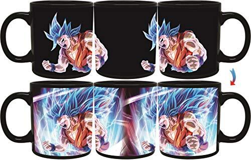 Sakura Elegance Vegeta Goku Black Anime Cartoon Character Dragon Ball Z Mug Fusion Collectibles Heat Reactive Color Changing Mugs 11oz Goku Goku Blue
