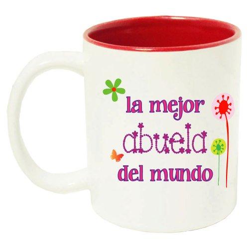 Best Grandma Mug in Spanish Abuela Wispy Flowers - 11 oz with Gift Box