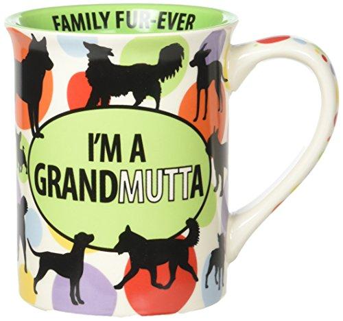 "Enesco 6000115 Our Name Is Mud ""Dog Grandma"" Stoneware Coffee Mug 16 oz Multicolor"