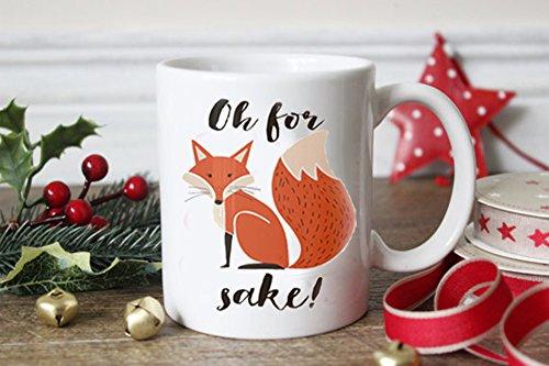 LHKSER Funny MugsFox Mug---Oh for Fox sake---Funny Gifts for womenmenCeramic Coffie Mug 11Oz … Fox B
