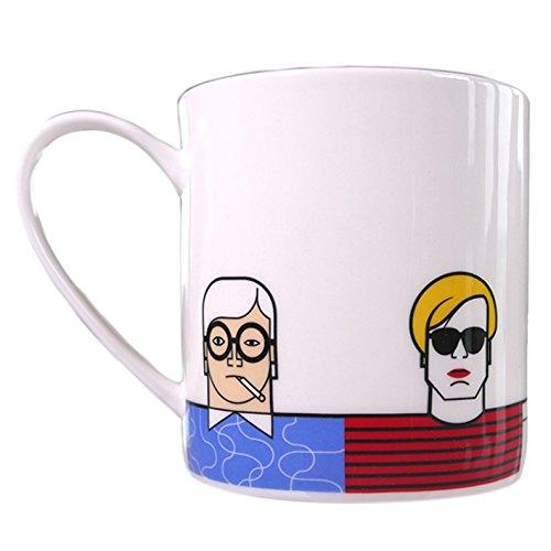 Great Modern Artists – Fine Bone China Mug - Warhol Dali Hokney Mondrian