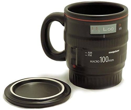 Camera Lens Coffee Mug - Ceramic with Handle - by Cookbook People