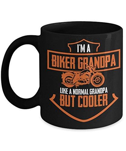 Biker Grandpa Mug Harley Davidson Grandpa Gift Funny Premium 11 oz I'm A Biker Grandpa Just Like A Normal Grandpa Except Much Cooler - Sarcastic Mugs for Dad Grandpa Grandfather Papa Poppy