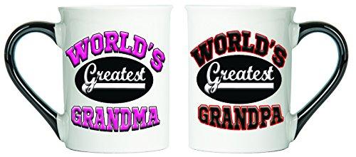 Worlds Greatest Grandma and Grandpa Mugs Set Of Two Grandma And Grandpa Mugs Grandparent Coffee Cups By Tumbleweed