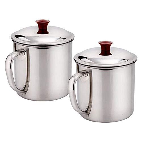 SEniutarm 480ml Stainless Steel Handle Cup Travel Camping Mug Drinking Beer Coffee Tea
