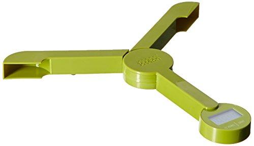 Joseph Joseph 40072 TriScale Compact Folding Digital Kitchen Food Scale Green