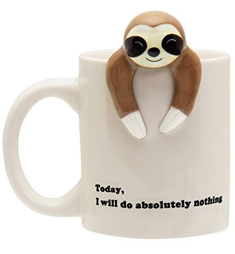 Decodyne Sloth Lazy Funny Coffee Mug Funny Gifts for Women and Men 12 oz