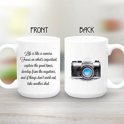 Life is like a camera Inspirational Quote Coffee Mug15 oz