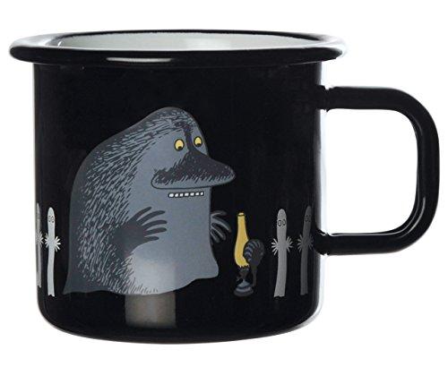 Muurla Enamel Moomin Groke Mug Cup in Black 37centrillitre 125fluid ounces