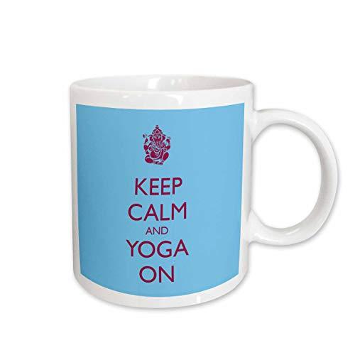 3dRose mug_159561_1 Keep Calm and Yoga On Yoga Pilates Ceramic Mug 11-Ounce