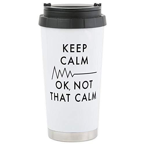 CafePress Keep Calm Okay No Stainless Steel Travel Mug Insulated 16 oz Coffee Tumbler