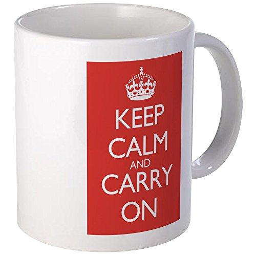 CafePress Large Mug Double Red Keep Calm And Carry On Mugs Unique Coffee Mug Coffee Cup