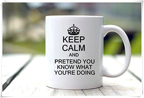 OttoRiven101 - Funny Coffee Mug - Keep Calm Mug - New Job Gift 11oz Ceramic Coffee MugTea Cup High Gloss