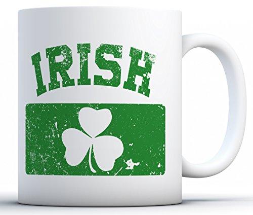 Awkward Styles Proud Irish Flag Coffee Mug St Patricks Gifts White 11 oz