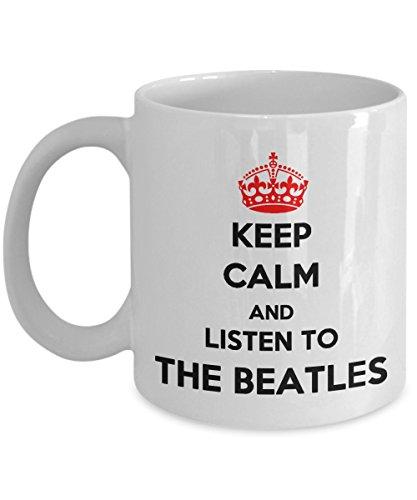 The Beatles mug  Keep calm and listen to The Beatles  gift mug  11oz white mug  VNG mug