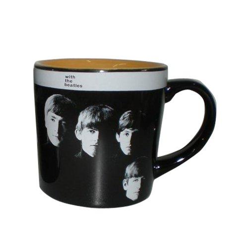 Vandor 64165 Ceramic Mug with The Beatles Black 12-Ounce