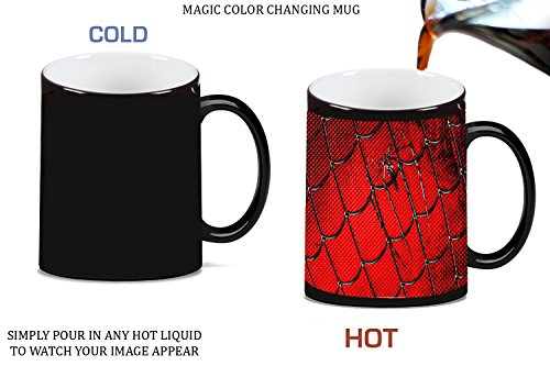 Spider Web Print Magic Color Changing Ceramic Coffee Mug Tea Cup by LE Prints