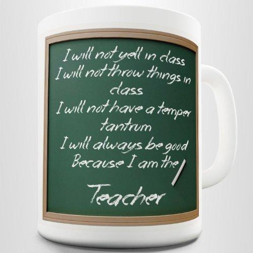 Teacher Rules Funny Coffee Mug Printed Cup